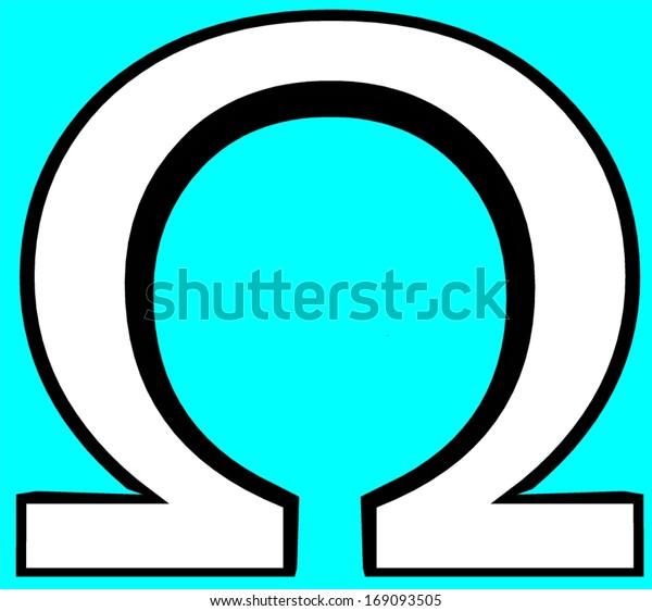 8th Greek Letter.Omega Greek Letter Greek Alphabet Script Stock Illustration 169093505