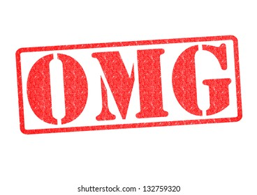 OMG Rubber Stamp over a white background.