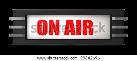 On Air Sign Art Deco Style Stock Illustration 99842696 - Shutterstock