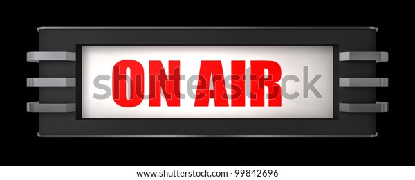On Air Sign Art Deco Style Stock Illustration 99842696