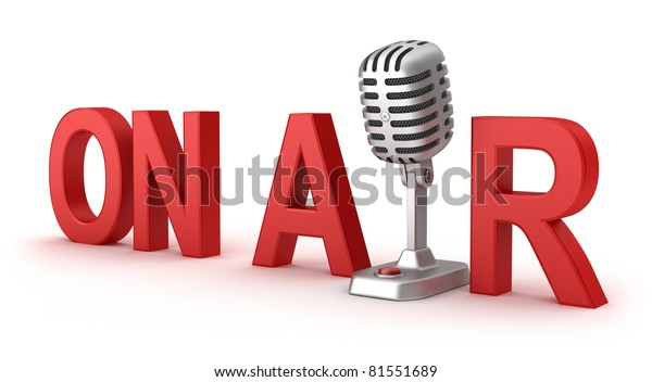 On Air word and microphone concept