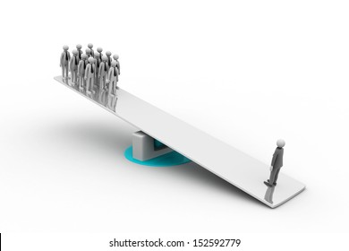 On the balance many persons against one person