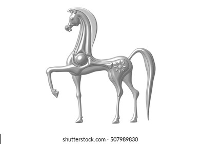 On graphics tablet created in the Etruscan style horse Etruscan Horse
