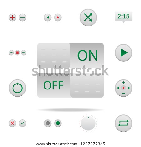 On Off Buttons Colored Icon Elements Stock Illustration