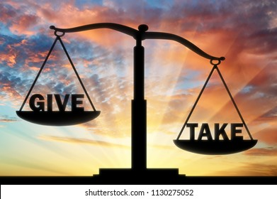 On the scales of justice, two words - give and take. The word to take is heavier. The conceptual scene of social problems in society
