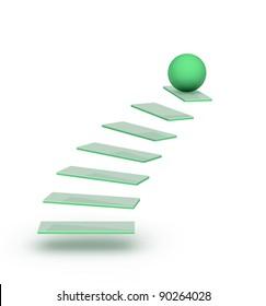 on top of stairway