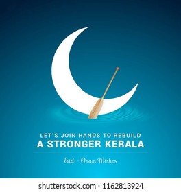 Onam is an annual Hindu festival with origins in the state of Kerala in India. It falls in the Malayalam calendar month of Chingam. Illustration of onam and eid with quote happy onam
