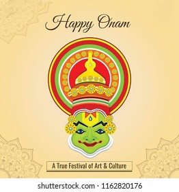 Onam is an annual Hindu festival with origins in the state of Kerala in India. It falls in the Malayalam calendar month of Chingam. Illustration of onam poster