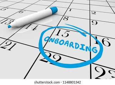 Onboarding Calendar New Job Employee Start Date 3d Illustration
