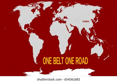"""one belt one road"" Chinese strategic investment in the 21st century,Map Elements of this image furnished by NASA"