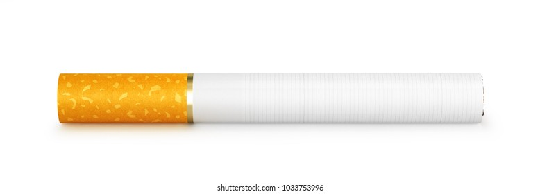one cigarette, isolated on white background. 3d illustration