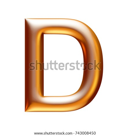 ea25620535c6 One Letter D Shiny Gold Gold Stock Illustration 743008450 - Shutterstock