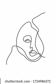one line face drawing, backraund work, print art for textile, minimalism and abstract work.