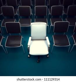 one reserved seat in auditorium