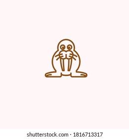 one shill animal shape logo design symbol with background