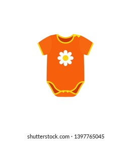 Onesies, bodysuit icon. Baby sleeper isolated on white background. Kids cloth in flat design. Cartoon illustration.