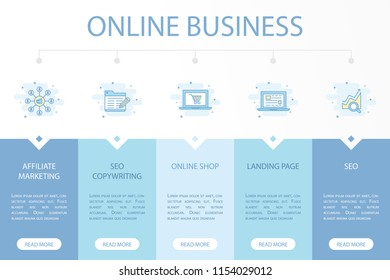 Online Business Web Banner Infographic Concept Template With Simple Line Icons Contains Such As