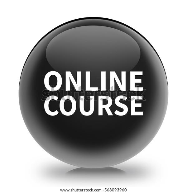 online course icon. Internet button.3d illustration.