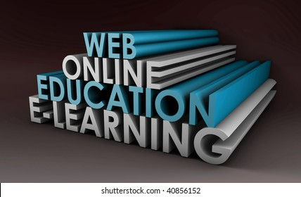 Online Education or Distance Learning in 3d