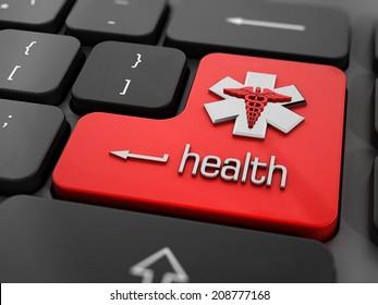 Online health or medicine concept.