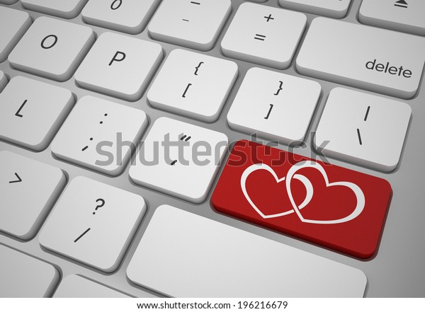 online love and valentines day concept