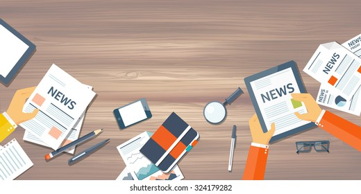 Online news. Newsletter and information. Business and market news.