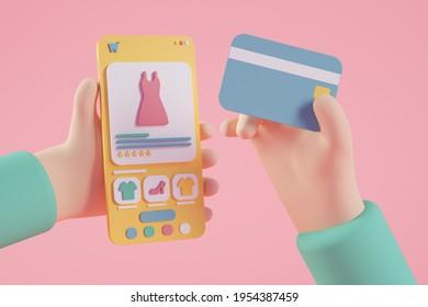 Diseño de compras en línea 3d
