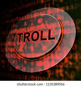 Online Troll Rude Sarcastic Threat 3d Rendering Shows Cyberspace Bully Tactics By Trolling Cyber Predators