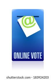 online vote concept illustration design over a white background
