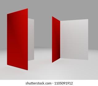 Open 3D Illustration 3D Card