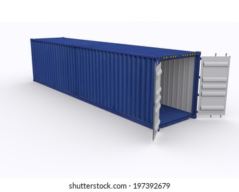 open 40 ft container
