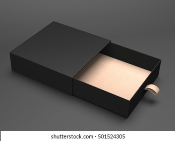 Open black box 3d rendering