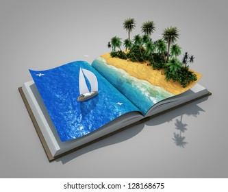 an open book with a real holiday