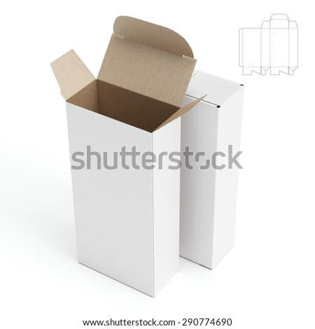 Open Box With Die Cut Template
