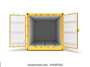 Open Cargo Container Open Doors Front view