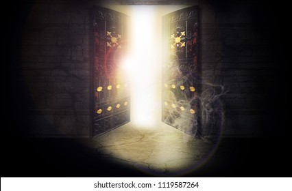 The open door, magic