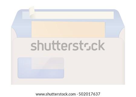 Open Envelope Letter 3 D Illustration Isolated Stock Illustration