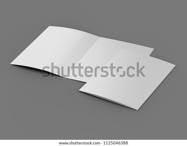 Zfold blank mockup 3d illustration stock photo download image.