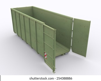 Open garbage container