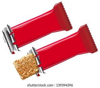 Open granola snack bar