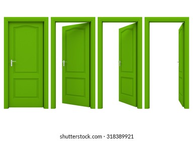 open green door