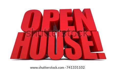 Open House Word On White Background Stock Illustration 741331102