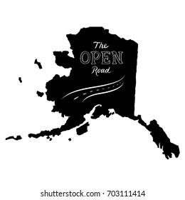 The Open Road Alaska Typography Design