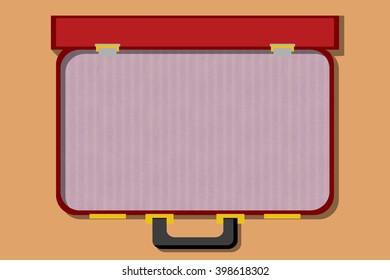 Open suitcase illustration icon
