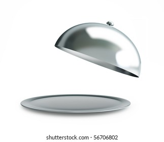 open tray on a white background