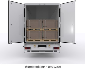 open truck trailer