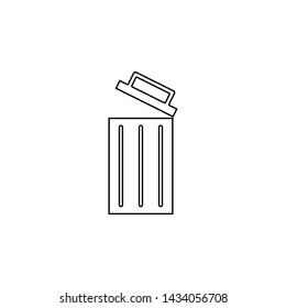 open wastebasket icon. Element of web for mobile concept and web apps icon. Outline, thin line icon for website design and development, app development