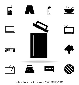 open wastebasket icon. web icons universal set for web and mobile