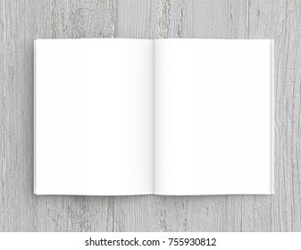 opened book template 3 d rendering stock illustration 755930839