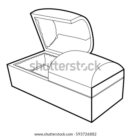 Royalty Free Stock Illustration Of Opened Coffin Icon Outline